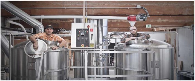 Rik Hall (left) and Ben Parsons (right) of Baerlic Brewing.